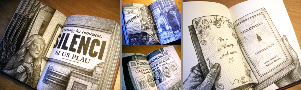 LETTERING FOR CATALAN & SPANISH TRANSLATION BOOK (WONDERSTRUCK BY BRIAN SELZNICK)<br/>BOOK&LOOK - CRUÏLLA