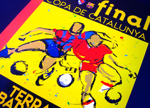 ILLUSTRATION FOR POSTER & PROMOTIONAL ITEMS<br/>FEDERACIÒ CATALANA DE FUTBOL