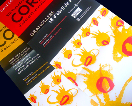 PROMOTIONAL ITEMS FOR CHILDREN'S CHOIR CONCERTS<br/>DEP. EDUCACIÒ - GENERALITAT DE CATALUNYA